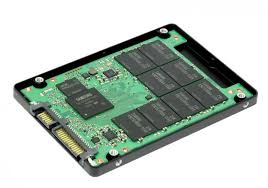 Cutaway view of SSD drive