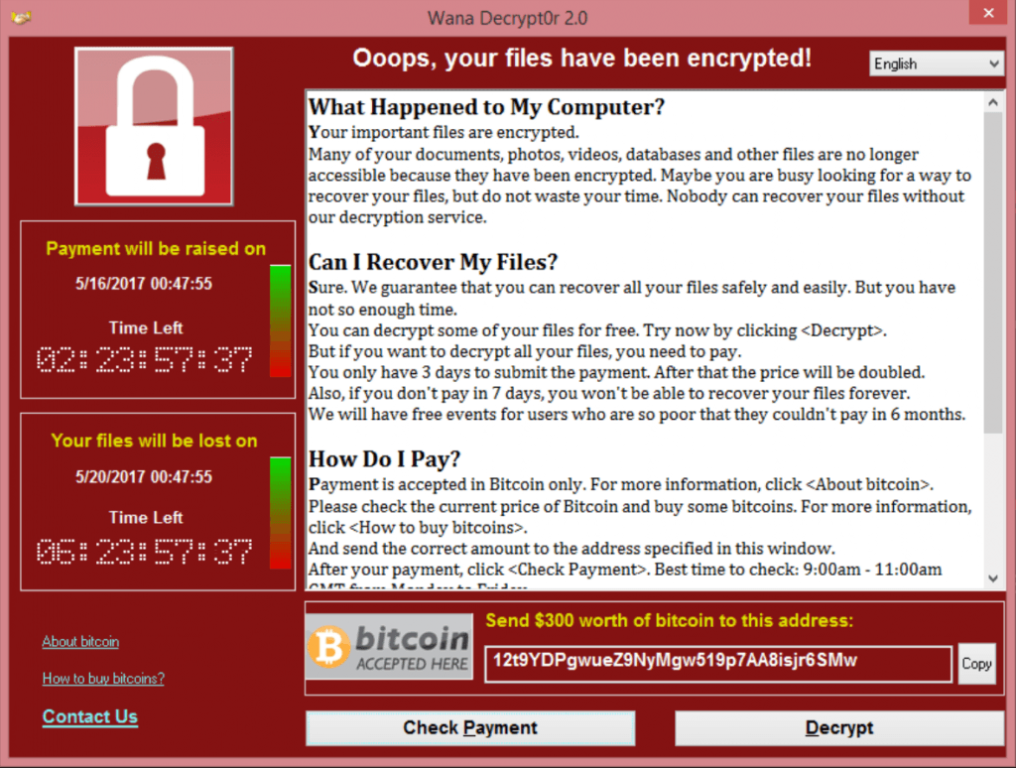WannaCry Malware Attacke